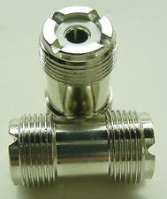 10 HIGH QUALITY DOUBLE FEMALE UHF BARREL CONNECTORS DOUBLE SO-239 FOR PL-259