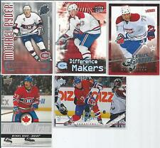 Montreal Canadians Michael Ryder  5-card Insert Lot  with SP  /100
