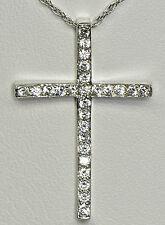 14 k Gold & Diamond Cross Pendant Necklace
