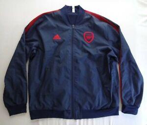 Adidas XL 19/20 Arsenal Anthem Track Jacket Top Full Zip Football Jersey EH5610