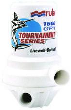 Rule Boat Marine Tournament Series Livewell/Aerator Pump 1600 GPH Dual Port