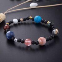 Weben Armband Galaxy Sonnensystem Acht Planeten Thema Naturstein Perlen