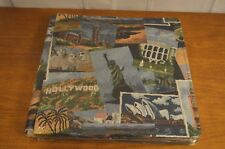 SEALED VINTAGE 10 pg approx SELF ADHESIVE PHOTO ALBUM BOOK fabric cover landmark