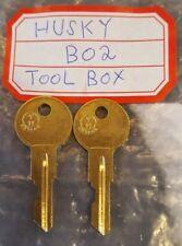 B02 key 2 NEW KEYS FOR HUSKY TOOL BOX KEY CODE B02 Home Depot Tool Boxes