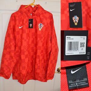Men's Nike Croatia Football Team Woven Windrunner Jacket CN7065-696 Size XXL