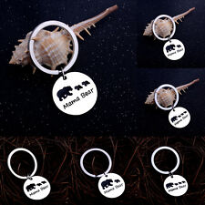 Family Keyring Keychain Key Chain Jewelry Mama Cute Bear Baby Kid Mother Gift