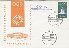Germany Olympische Spiele Olympic Games 1972 Kiel cover shippost Gratia