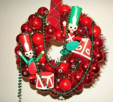 Vintage Ornament Christmas Wreath Holiday Kitsch Toy Soldier