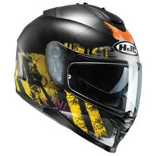 HJC IS-17 SHAPY MOTORCYCLE HELMET LARGE FULL FACE YELLOW INT SUN VISOR SAVE £75