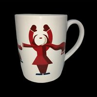 Starbucks Cup Coffee Mug White Red Winter People Scarves 2012
