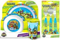 Teenage Mutant Ninja Turtles 'Half Shell Heroes' 6-Piece Dinner Set | Cutlery