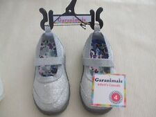 Garanimals Girl's/Infants Sz 4 -Glittery Silver Mary Jane Slip-on Shoes-Nwt-L@K