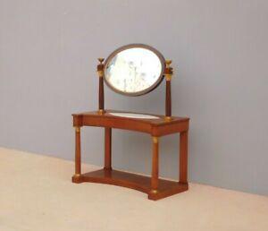 Mobile tavolino toilette Impero con specchio basculante, mogano, '800!