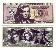 ONE MILLION DOLLARS LAUREN BACALL