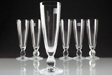 6 Sektgläser Conte Schott Cristal Glas Sektglas Champagnerflöten glass R4O