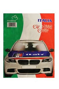 ITALIA ITALY  BLUE , Country Flag , 4 Stars , World Cup  CAR HOOD COVER..New