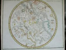 "Antique celestial chart, 1776, Fortin, from ""Atlas Celeste de Flamsteed"""