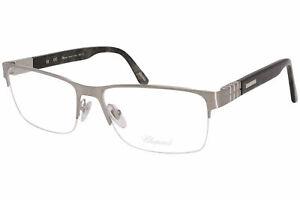 Chopard VCHA78 0Q39 Eyeglasses Men's 23KT Palladium/Horn Optical Frame 56mm
