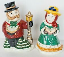 Fitz & Floyd/Omnibus Victorian Christmas Carolers Salt & Pepper Shakers ~ New