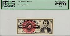 TIM PRUSMACK MONEY ART 50 CENT ABRAHAM LINCOLN PCGS SUPERB GEM NEW 69 PPQ-WOW!