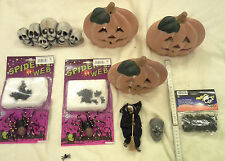 Halloween Dekoration Spinnen Hexe Totenkopf Kürbisse f. Teelichter Grusel Finger