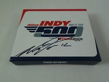 Will Power Signed Box 2018 Indianapolis 500 102ND Running Bronze Pit Badge WW429
