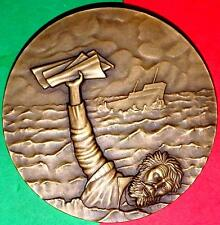 SHIPWRECKIING / POET CAMÕES / SAVING LUSIADAS LARGE BRONZE MEDAL BY ANTUNES
