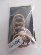 Banana Republic Peach Enamel Stackable RIng Sz 5 NWT $50 LOT OF 6 PIECES