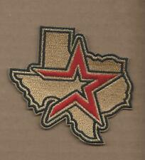 NEW 3 3/8 X 3 1/2 INCH HOUSTON ASTROS STATE IRON ON PATCH FREE SHIPPING R2