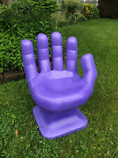 """GIANT Lavender HAND SHAPED CHAIR 32"""" adult size 70's Retro EAMES iCarly NEW"""