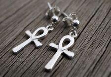 Pequeño Ankh encanto plata esterlina Pendientes Delicados Cruz egipcia * * * símbolo de la vida
