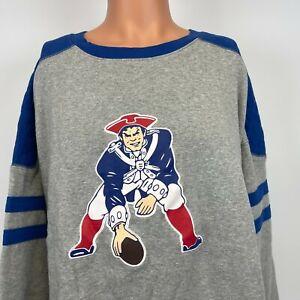 Mitchell And Ness New England Patriots Post Season Crewneck Sweatshirt NFL 5XL