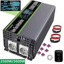 12V auf 230V Spannungswandler Wechselrichter Reiner Sinus 2500W/5000W LCD Auto