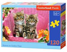 Castorland B-13357-1 - Kittens On Garden Chair,Puzzle 120 Teile - Neu