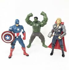 Thor Captain America Incredible Hulk Action Figures 2011 Mighty Battlers Marvel