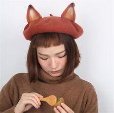 Mori Girl Cute Zootopia Fox Nick Ear Beret Cap Lolita Creative Harajuku Hat