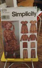 Oop Simplicity 5939 girls boho jacket dress mandarin vest capri pants sz 3-8 NEW