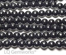 """15.5"""" Strand RUSSIAN SHUNGITE 14mm Round Beads NATURAL"""