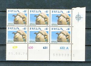 South Africa /  Two off  4 Cent Control blocks from 1974