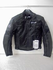 Buffalo Black Leather Textile Waterproof Motorcycle Armoured Jacket New