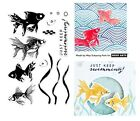 Hero Arts Clear Stamps - Colour Layering Goldfish - Just Keep Swimming! Fish