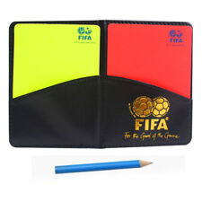 Referee Football Sport Wallet Notebook Score Red Yellow Card Pencil Soccer Set