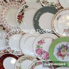 Job Lot Of 100 Vintage Mismatching China Side Plates - Tea Parties/ Weddings