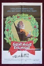 BLACK CHRISTMAS * ORIGINAL MOVIE POSTER 1974 SILENT NIGHT EVIL NIGHT HALLOWEEN