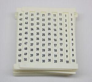 Weidmuller Terminal Marker DEK 5 FS 1-50, 5mm, 0473560001, Box Of 10 Sheets