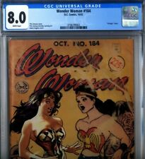 PRIMO:  WONDER WOMAN #184 AH! Adam Hughes retro cover WWII VF 8.0 CGC DC comics