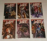 JUSTICE INC COMPLETE SET OF SIX ISSUES (#1 TEAR TOP OF COVER) DYNAMITE CB 2014