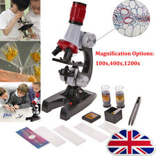 Kids Childrens Toy Microscope Set With Light Educational Science Nature Toy L1