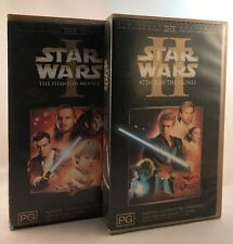 Star Wars: Episode I & II, The  Phantom Menace & Attack Of The Clones, VHS PAL
