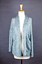 Sparkle & Fade Shimmer Knit Cardigan Blue Metallic Sweater Urban Outfitters XS